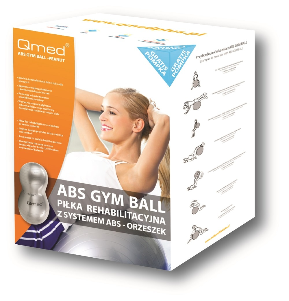 ABS GYM BALL – PEANUT